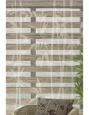 Bambu Baskılı Zebra Perde