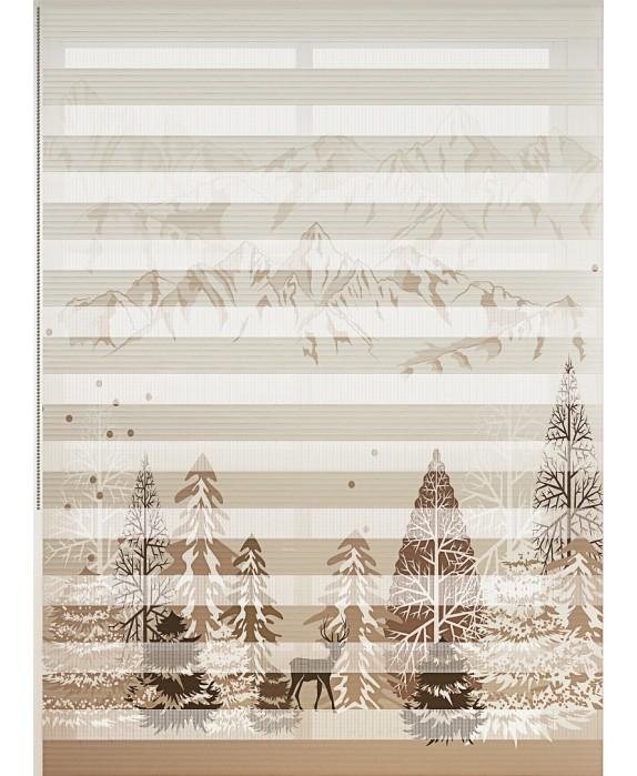 Orman Baskılı Zebra Perde