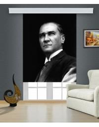 Atatürk Baskılı Stor Perde